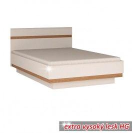 Postel v luxusní bílé barvě ve vysokém lesku TK026 TYP 92