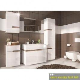 Skříňka horní pravé provedení v luxusní bílé barvě ve vysokém lesku TK026 TYP 157