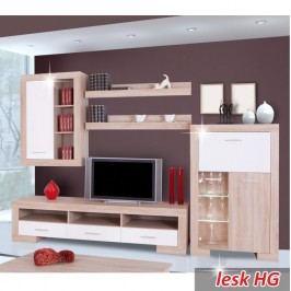 Moderní obývací sestava ve stylovém provedení dekoru dub s bílým leskem TK154
