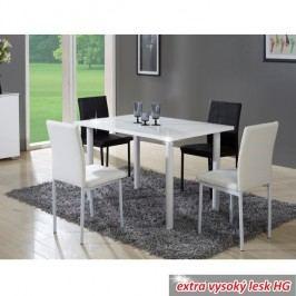 Jídelní stůl v luxusním jednoduchém designu bílá v extra vysokém lesku  UNITA