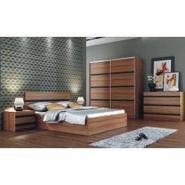 Ložnice FLORENCJA (postel 160, skříň, komoda, 2 noční stolky)