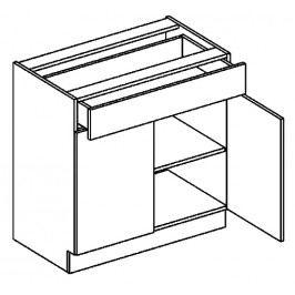 D80/S1 dolní skříňka se zásuvkou sonoma KN2000