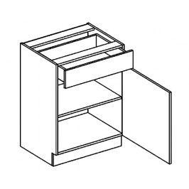 D60/S1 dolní skříňka se zásuvkou sonoma KN2000