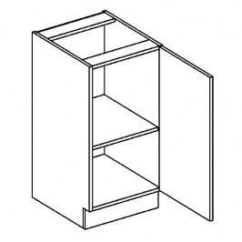 D40 dolní skříňka jednodvéřová grafit bis KN2000