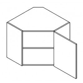 WR/58 horní skříňka rohová 60x60 cm grafit bis KN2000