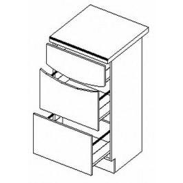 D40/S3 dolní skříňka se zásuvkami SMILE jas/cap