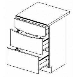 D60/S3 dolní skříňka se zásuvkami SMILE textile