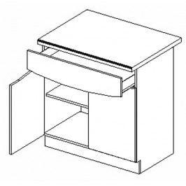 D80/S1 dolní skříňka dvojdvéřová SMILE textile