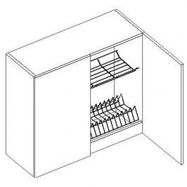 Skříňka horní s odkapávačem EKRAN WENGE š.80cm W 80 SS