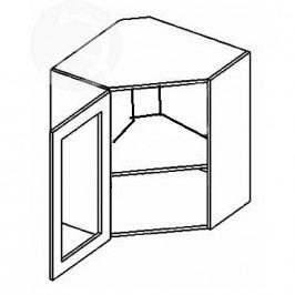 Vitrína horní rohová EKRAN WENGE 60x60cm WR 60w SZ - levá čiré sklo