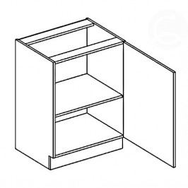 Skříňka dolní EKRAN WENGE š.60cm D 60 1D - pravá