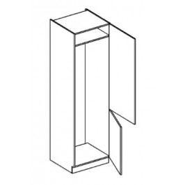 Skříňka dolní na vestavnou lednici EKRAN WENGE š.60cm DL 60 - pravá