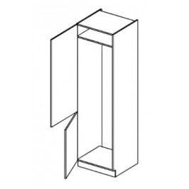 Skříňka dolní na vestavnou lednici EKRAN WENGE š.60cm DL 60 - levá