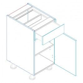 Skříňka dolní se zásuvkou AMELIA D40 S/1 pravá