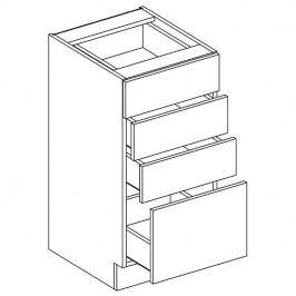 Skříňka dolní se zásuvkami ANNA D40 S/4