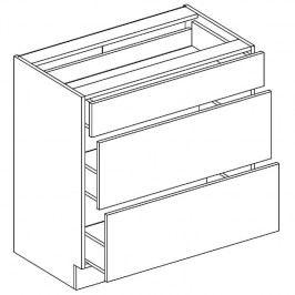 Skříňka dolní se zásuvkami JUSTÝNA lak D80 S/3
