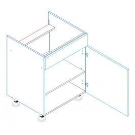 Skříňka dolní na varnou desku se záslepkou JUSTÝNA lak D60 PC pravá