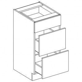 Skříňka dolní se zásuvkami JUSTÝNA lak D40 S/3