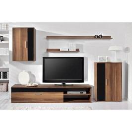 Obývací stěna v jednoduchém trendy provedení v moderním dekoru švestka BARATO Obývací stěna