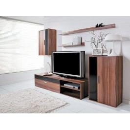 Obývací stěna v jednoduchém trendy provedení v moderním dekoru švestka BARATO