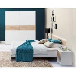 Ložnice KN134 (skříň, postel, 2ks noční stolek)