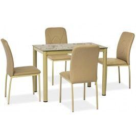 Jídelní stůl 100x60 cm v tmavě béžové barvě KN553