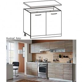 Skříňka do kuchyně, dolní, dub sonoma/bílá, CYRA new D 80/84