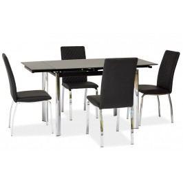 Jídelní stůl GD-019 rozkládací černý