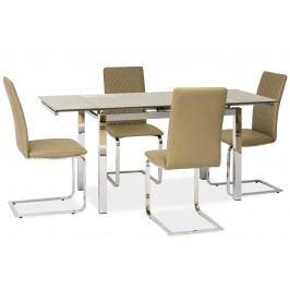 Jídelní stůl GD-020 rozkládací tmavý béž