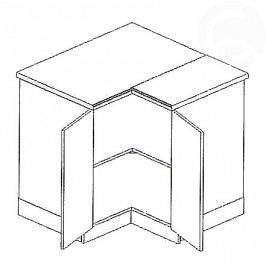 DRP dolní rohová skříňka 90x90 cm picard KN2000