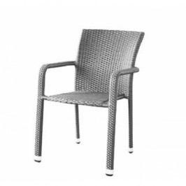Křeslo v moderním šedém provedení BARCELONA Nábytek na zahradu
