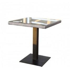 Stůl 70x70 cm v šedém provedení BARCELONA