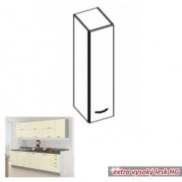 horní skříňka DOPRA krémová vysoký lesk 30 cm