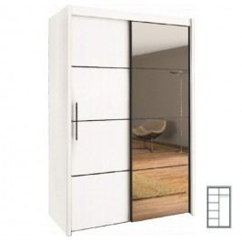 Šatní skříň s posuvnými dveřmi INOVA 120 bílá