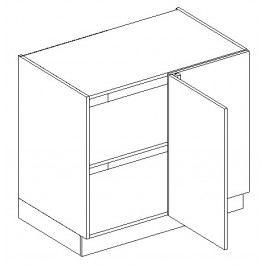 DNP dolní skříňka rohová KN1810 D/B pravá