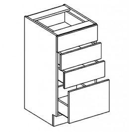D40S4 dolní skříňka se zásuvkami SANDY STYLE
