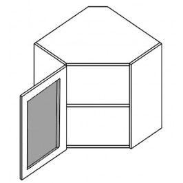 WR60WMR horní vitrína rohová POSNANIA 60x60 cm