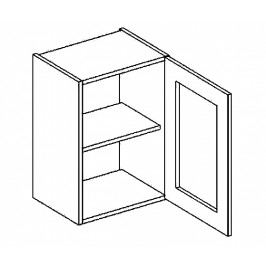 W40WP horní vitrína jednodvéřová COSTA OLIVA čiré sklo