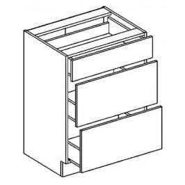 D60S3 dolní skříňka se zásuvkami COSTA OLIVA
