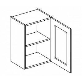 W40WP horní vitrína jednodvéřová COSTA čiré sklo