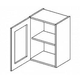 W40WL horní vitrína jednodvéřová COSTA čiré sklo