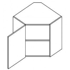 WR60L horní skříňka rohová PREMIUM de LUX olše