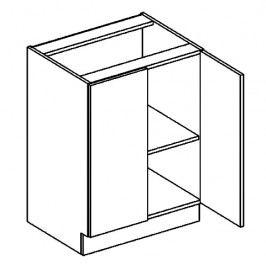 D60 dolní skříňka dvojdvéřová PREMIUM de LUX olše