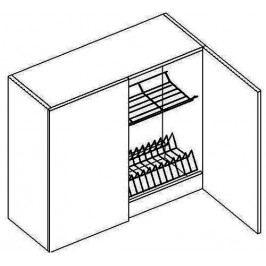 W80SS horní skříňka s odkapávačem MERLIN