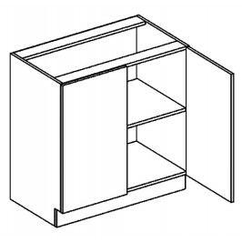 D80 dolní skříňka dvojdvéřová PREMIUM hruška