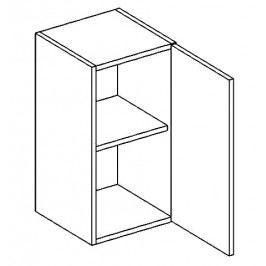 W40P horní skříňka jednodvéřová PREMIUM hruška