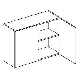 W80 horní skříňka dvojdvéřová PREMIUM olše