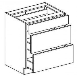 D80S3 dolní skříňka se zásuvkami FLOWERS - metalbox