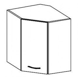 Horní rohová skříňka pravá 60x60 cm v krémovém lesku typ WRP KN414