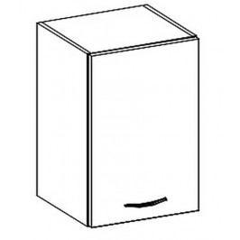 W40 horní skříňka jednodveřová pravá v šedém lesku KN414